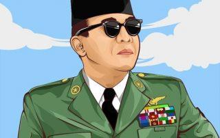 Vector Art of Soekarno Hatta First President of Indonesia. © Azhar Firman 2017
