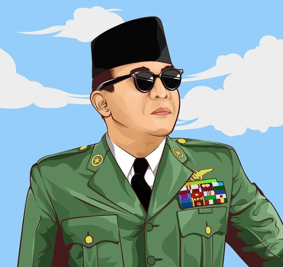 Vector Art of Soekarno Hatta First President of Indonesia. © Azhar Firman 2017